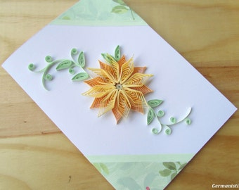 Pastel Flower Card, Flower Birthday Card, Blank birthday card, Flower Greeting Card, Mother's day card, Anniversary card, Art card