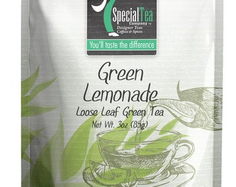 3 oz. Lemonade Loose Leaf Green Tea with Free Tea Infuser