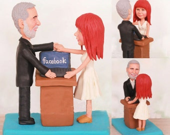 Just got a job from facebook - Personalised wedding cake topper (Free shipping)