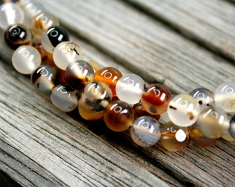 Montana Moss Agate 6-7mm round beads (ETB00996)