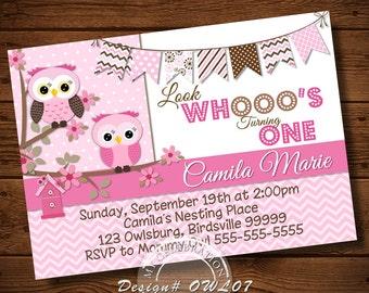 OWL Birthday Invitation, OWL Invitations, Owl Party Invitation, Owl Digital File, Owl Party Decoration, Owl, Owl Party Ideas, Owl Birthday