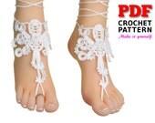 Barefoot sandals | crochet | pattern | beach wedding | OCTOPUS