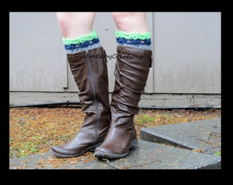 Seahawks Colors Boot Cuffs