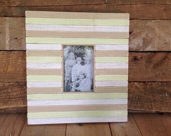 "4"" x 6"" Photo Opening, Handmade Reclaimed Wood Frame"