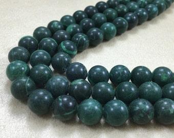 10mm green jasper stone semi precious gemstone for honesty bracelet