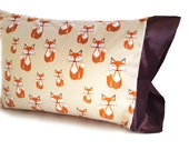 Fox Pillow Case / Woodland Animals / Pillow Case / Toddler Pillow Case / Travel Pillowcase / Standard Pillowcase / King Pillowcase
