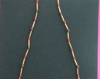 Ruby and Gold Necklace