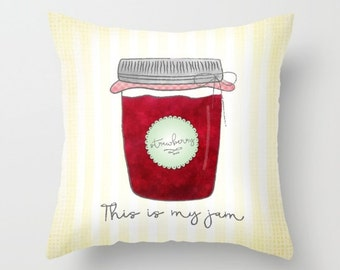 This Is My Jam Throw Pillows - Decorative Pillows - Couch Pillows - Sofa Pillows