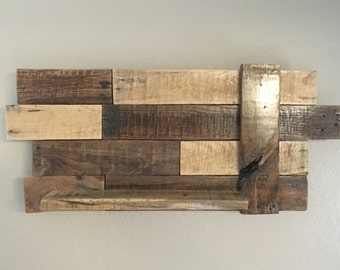 Reclaimed Rustic Barn Wood Shelf