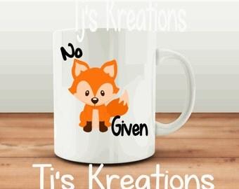 No fox given coffee mug , humor, adult