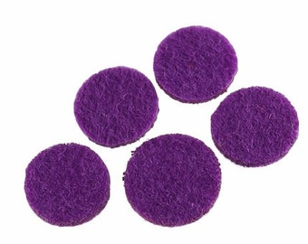 Aromatherapy Jewellery Refill, Perfume Pads, Diffuser Pads, Purple Perfume Pads, Aromatherapy Pads, Oil Diffuser, Perfume Necklace 22mm Pads