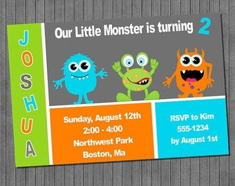 LIMITED TIME 40% OFF Monster Birthday Invitation
