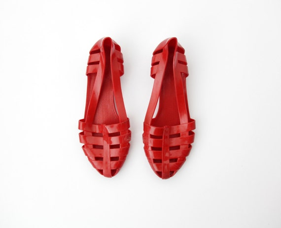 Vintage Jelly Sandals // Red Jellies