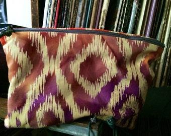 Batik Fabric Make-Up pouch/ Pencil Case/ little zipper pouch