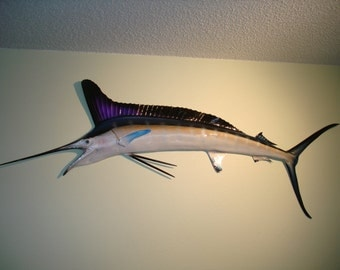 White Marlin Fish Mount - 59 Inches - Half Mount