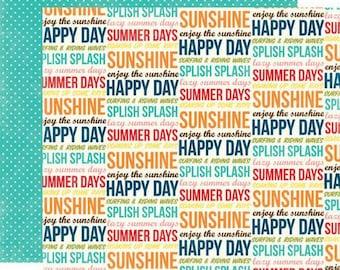 """Echo park paper """"Sunshine Words"""""""