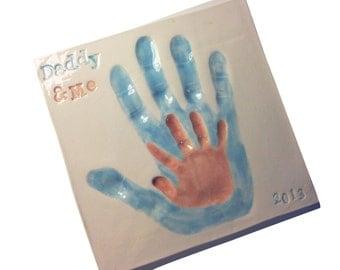 Mommy and Me Clay Handprint Keepsake