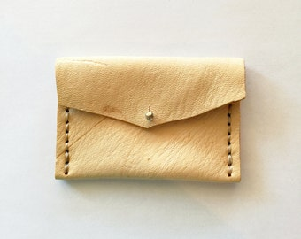 Leather Coin Purse - Natural - Coin Purse - Deerskin