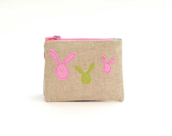 Bunny Purse // Coin Purse // Small Change Purse // Children's Gift // Easter Gift