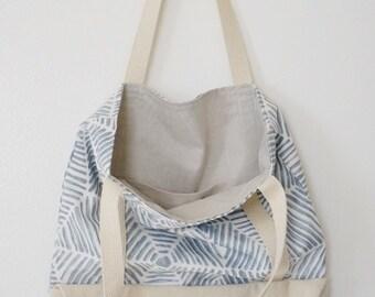Bluebird Pocket Tote / canvas / organic cotton