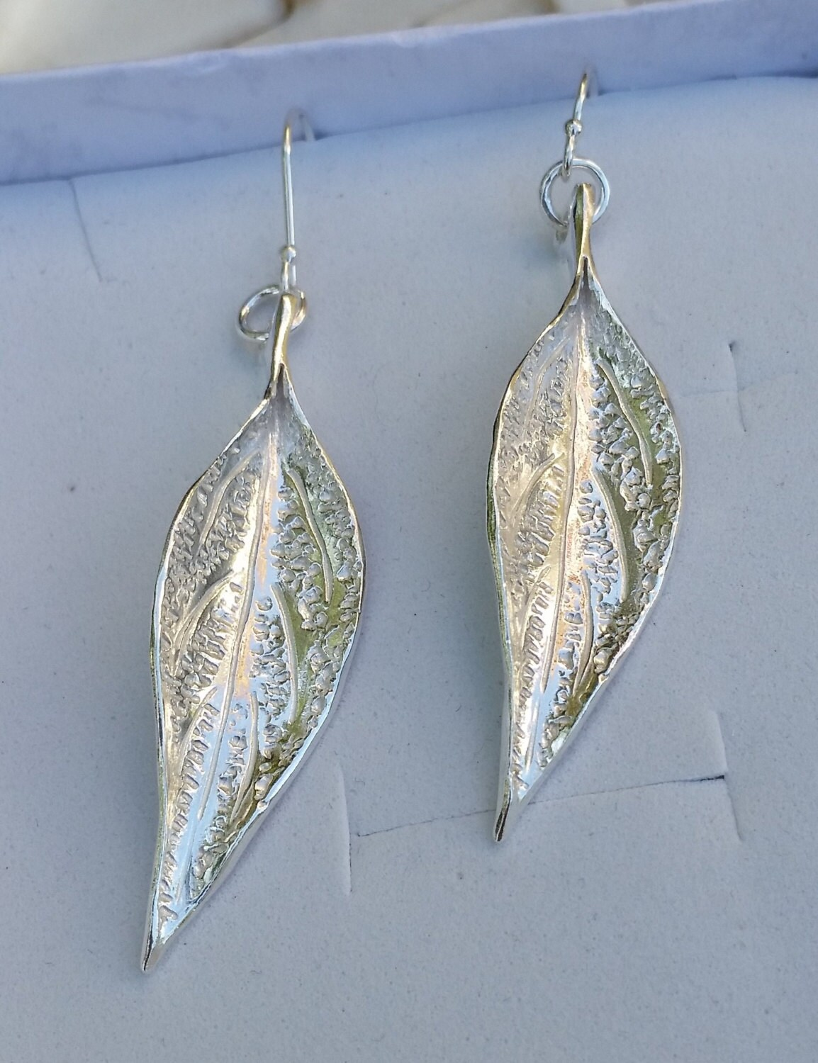 leaf silver earrings silver dangle earrings silver