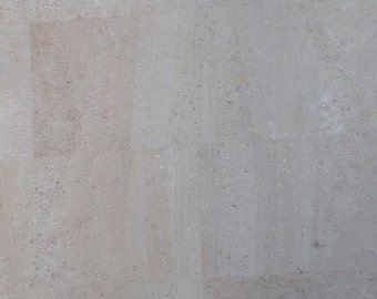 Natural Cork Fabric - Light Grey