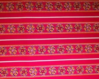 "Flowers Stripes Print #13 100% Cotton Quilting Fabric Robert Kaufman Designer Print 45"" Wide By The Half Yard"