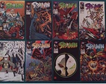 8 Book Spawn Comic Book Collection