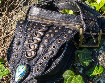 APACHE Waist Bag // Tribal Leather Accessories - Made to Order