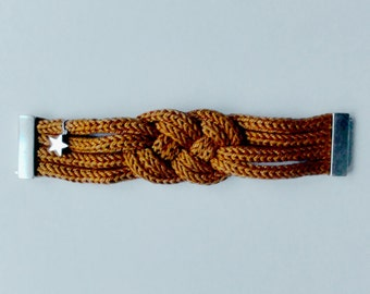 Dana : ochre cotton plaited bracelet
