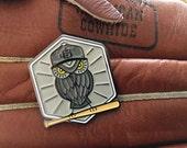 Enamel Pin - Baseball Owl