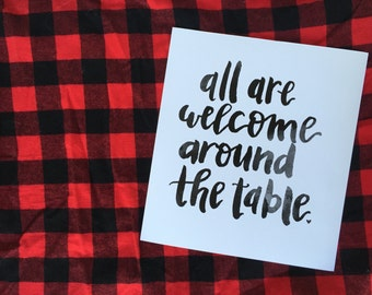 "around the table | 8x10"" thanksgiving print"
