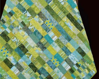 Madison Cottage Kiwi Conserve Green Batik Quilt Pattern