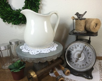 Antique Ironstone Pitcher *FREE SHIPPING* Classic White Ironstone Pitcher