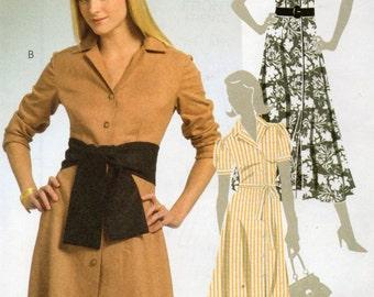 McCall's  DRESSES BELT & SASH Pattern 5378 Misses Sizes 16 18 20 22