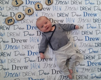 Personalized baby name swaddle blanket: baby and toddler personalized name newborn hospital gift baby shower gift