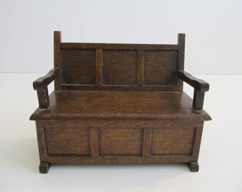 Music Boxes, Settee Music Box, Dollhouse Furniture, Victorian Dollhouse Furniture, Settee, Elizabethan Furniture, Victorian Music Boxes