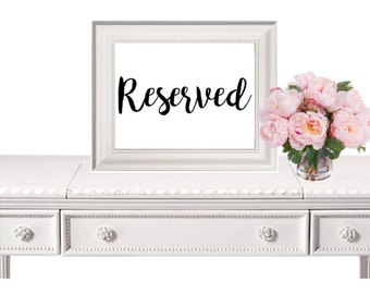 Reserved Sign, Wedding Sign, Wedding Printable