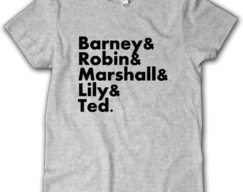 How I Met Your Mother Favorites List-Barney, Robin, Marshall, Lily, Ted, tv show, HIMYM
