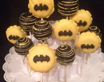 12 BATMAN Assortment Cake Pops, 1 dozen