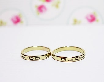 Custom ring in gold - promise ring - Your inscription