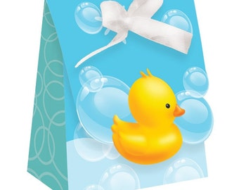 72 Rubber Ducky Baby Shower Small Favor Bags with Ribbons  ~ Great Value! Super Cute!