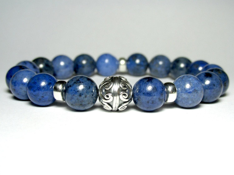 mens sodalite bracelet mens beaded bracelet by ljewellery