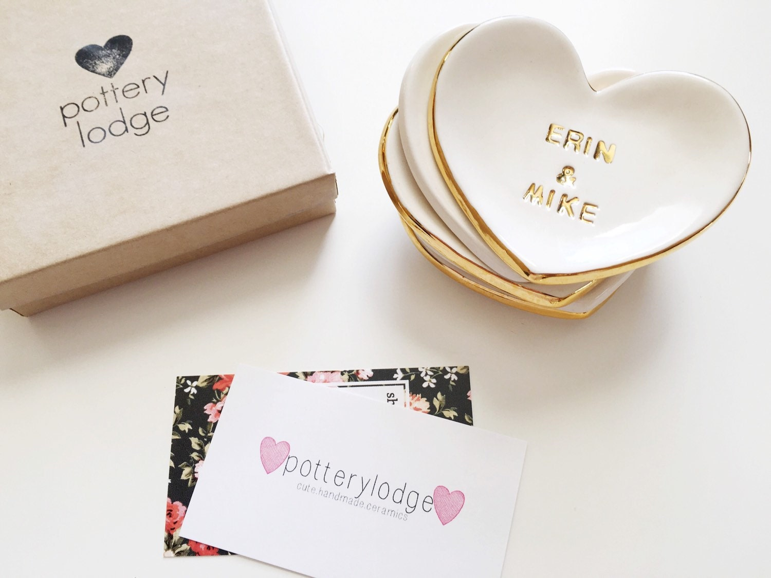 Personalized Heart Ring Dish