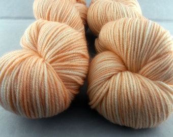 Apricot - Hand Dyed Superwash Merino DK Yarn