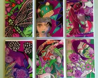 Purple POP -Greeting Card Collection by Australian Artist Samantha Thompson