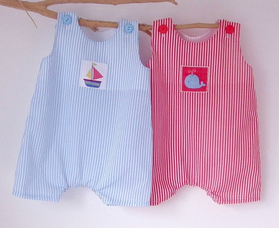 Newborn Baby Boy Clothes Nautical Rompers Summer Sailboat
