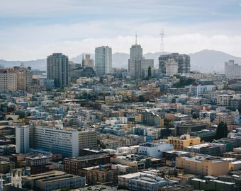 View from the Coit Tower in San Francisco, California. | Photo Print, Stretched Canvas, or Metal Print.