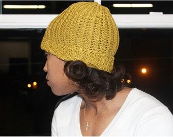 100% Silk Crochet beanie