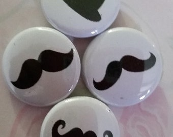 Buttons,mustache buttons with mustaches Mr mustache buttons,button tags Button favors